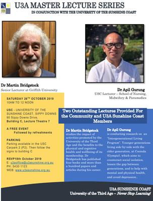 U3A Master Lecture Series
