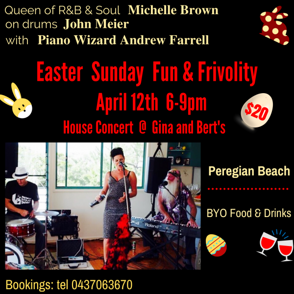 Easter Sunday 12th April ..house Party