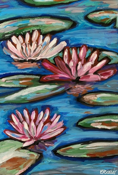 Join Me To Paint 'lillies On The Lake'