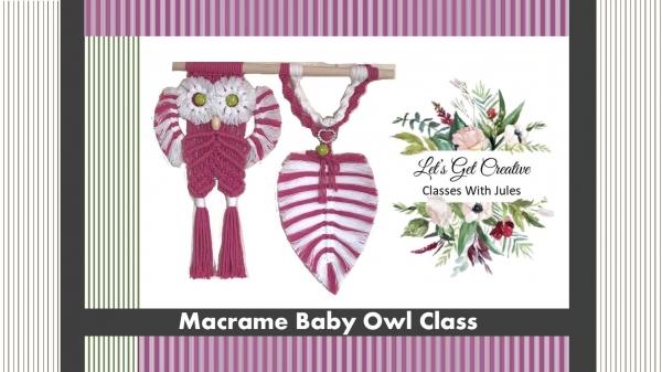 Macrame Owl Class - $50