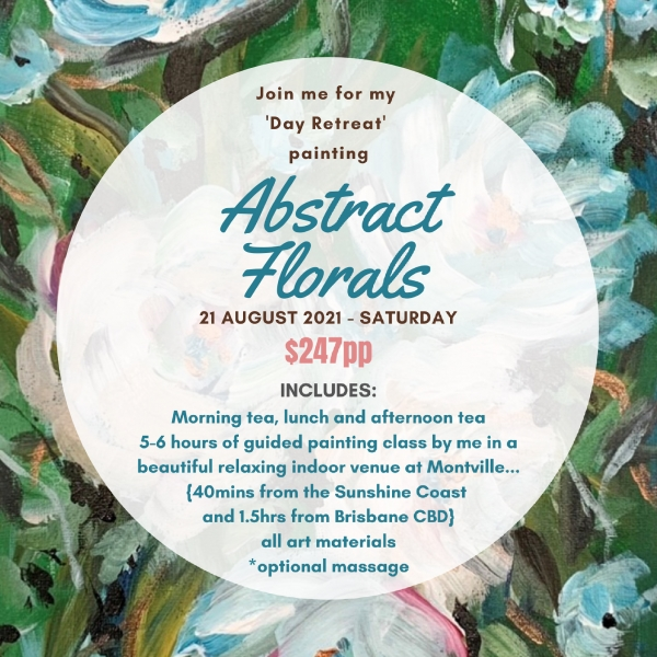 Day 'abstract Florals' Painting Retreat