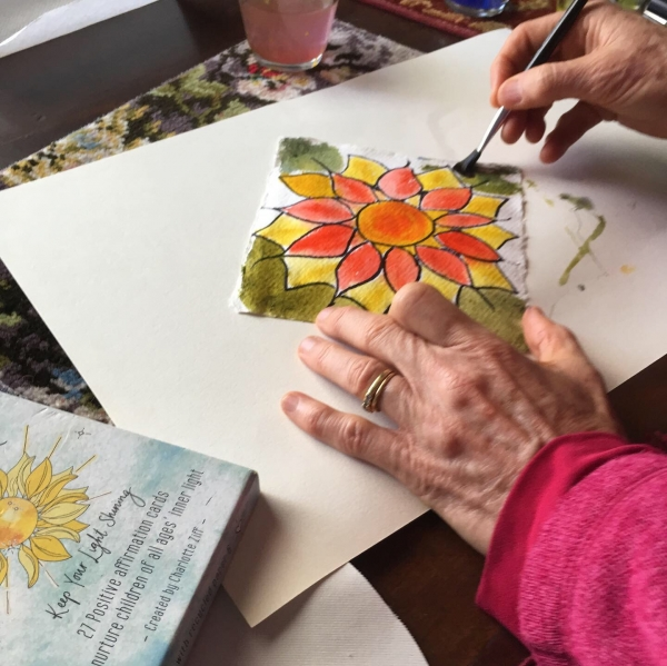 Meditation Creations With  Watercolours