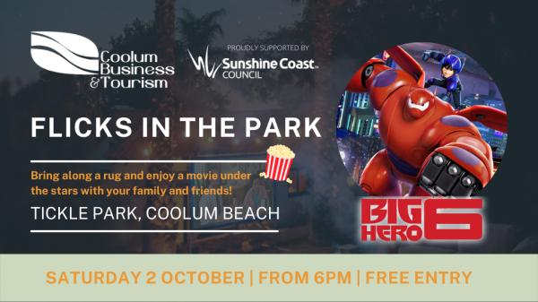 Coolum Flicks In The Park: Big Hero 6