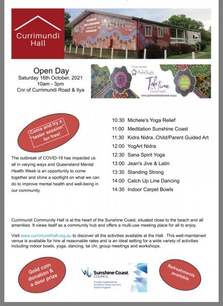 Open Day Currimundi Community Hall